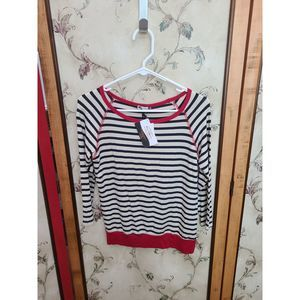 Kut From the Kloth Striped Top Sz S NWT